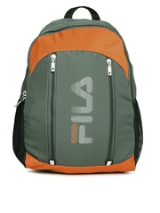 67edc6f2b552 FILA Unisex Grey Orange Earth Laptop Backpack available at Myntra for Rs.714