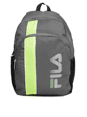 b2e2f1d58d4b FILA Unisex Grey Green Laptop Backpack available at Myntra for Rs.714