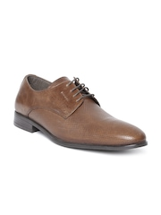 Red Tape Men Brown Textured Leather Formal Shoes