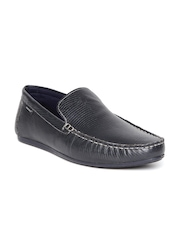 Red Tape Men Navy Textured Leather Regular Loafers