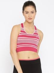 Proline Active Pink Striped Sports Bra PA11457