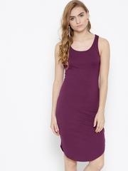 FOREVER 21 Women Purple Sheath Dress