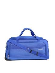 AMERICAN TOURISTER Unisex Blue Textured Amt Pep Medium Trolley Duffel Bag