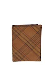 Fossil Men Brown Cowhide Leather Printed Wallet