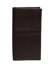 Fossil Men Coffee Brown Cowhide Leather Passport Holder