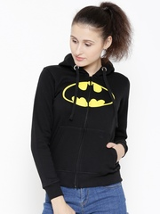 DC Comics Black Batman Print Hooded Sweatshirt