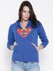 DC Comics Blue Superman Print Hooded Sweatshirt
