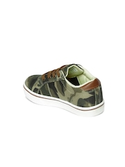 Boltio Boys Olive Green Camouflage Printed Derbys