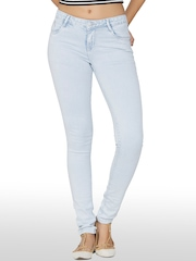 Kraus Jeans Women Blue Skinny Fit Mid-Rise Clean Look Jeans