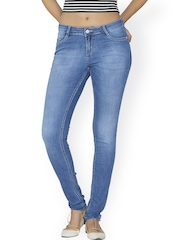 Kraus Jeans Women Blue Mid Rise Clean Look Jeans