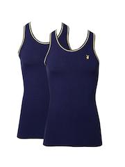 Playboy Men Set of 2 Navy Innerwear Vests UPB601-C