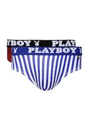 Playboy Men Pack of 2 Printed Briefs UD33