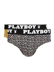 Playboy Men Pack of 2 Printed Assorted Briefs UD33