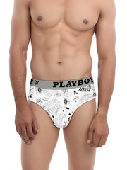 Playboy Men Pack of 2 Printed Briefs UD40