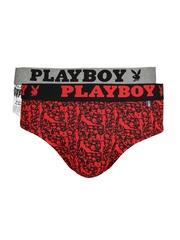 Playboy Men Pack of 2 Printed Briefs UD40