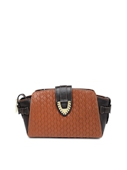 Hidesign Brown Handcrafted Textured Leather Clutch