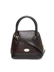 Hidesign Brown Handcrafted Textured Leather Handbag