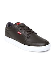 Levis Men Brown Solid Regular Sneakers