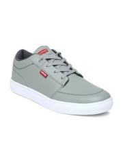 Levis Men Grey Solid Regular Sneakers