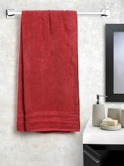WELHOME Fabulox Maroon 100% Cotton Bath Towel