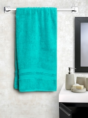 SPACES Women Turquoise Green Cotton 450 GSM Bath Towel