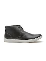 Steve Madden Men Charcoal Grey Mid-Top Sneakers