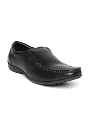 Lee Cooper Men Black Genuine Leather Semiformal Shoes