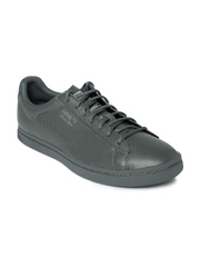 Puma Unisex Grey Perforated Court Star Gold Leather Casual Shoes
