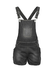 naughty ninos Girls Black Denim Dungarees