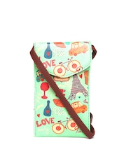BandBox Women Green Printed Mobile Pouch