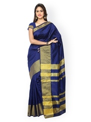 Inddus Blue Art Silk Traditional Saree