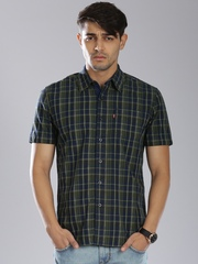 Levis Men Navy Slim Fit Checked Casual Shirt
