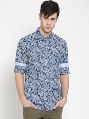 Tommy Hilfiger Men Blue Printed Casual Shirt