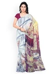 Colors Multicoloured Chiffon Printed Saree