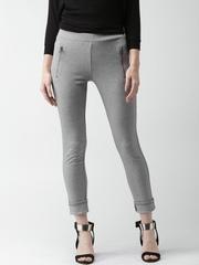 ALCOTT Grey Melange Ankle-Length Leggings