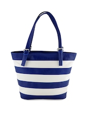 Utsukushii Blue & White Striped Shoulder Bag