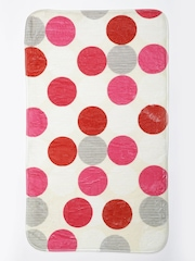 Cortina Beige Polka Dot Print Rectangular Bath Rug