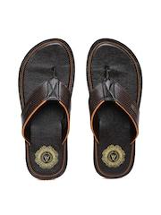 Alberto Torresi Men Brown Textured Sandals