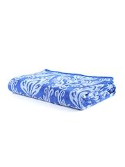 Turkish Bath Blue Printed Cotton 410 GSM Bath Towel