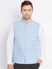 United Colors of Benetton Blue Nehru Jacket