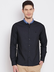 United Colors of Benetton Men Navy Patterned Casual Shirt
