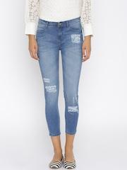Jealous 21 Women Blue Hottie Fit Ankle-Length Jeans