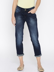 Jealous 21 Women Blue Bootilicious Fit Ankle-Length Jeans