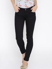 Jealous 21 Women Navy Blue Super Skinny Fit Mid-Rise Jeans