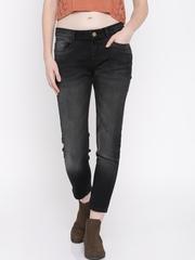 Jealous 21 Women Black Hourglass Fit Ankle-Length Jeans