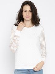 Jealous 21 Women White Sweater