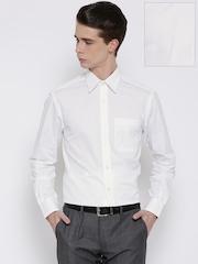 John Players Men White Solid Formal Shirt