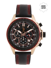 U.S. Polo Assn. Men Black Chronograph Watch USAT0102