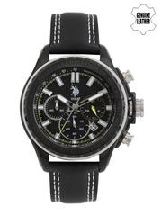 U.S. Polo Assn. Men Black Chronograph Watch USAT0103
