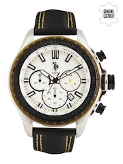 U.S. Polo Assn. Men Silver-Toned Chronograph Watch USAT0104